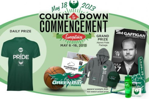 Countdown to Commencement Sweepstakes May 6-16, 2013