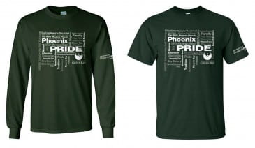 5th edition Phoenix PRIDE shirt options