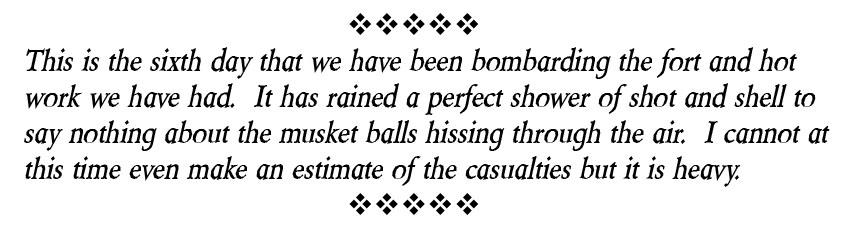 Hiram Carlton letter excerpt, April 1, 1865