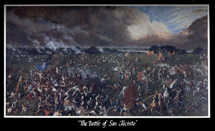 Battle of San Jacinto McArdle painting postcard
