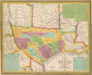 Photo of: A new map of Texas, with the contiguous American & Mexican states (1836)