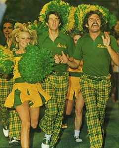 Baylor Yell Leaders help cheer the Bears to their 1974 SWC Championship