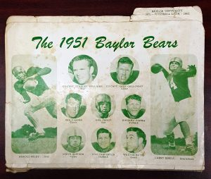 Cover of the 1951 Baylor Football Data guide.