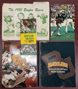 Evolution of the media guide: 1951, 1977, 1983, 2002, 2010.