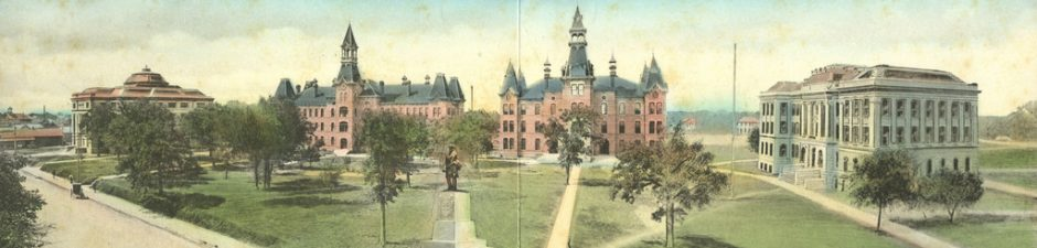 Looking Back at Baylor: A Stroll Around Burleson Quadrangle in 1908