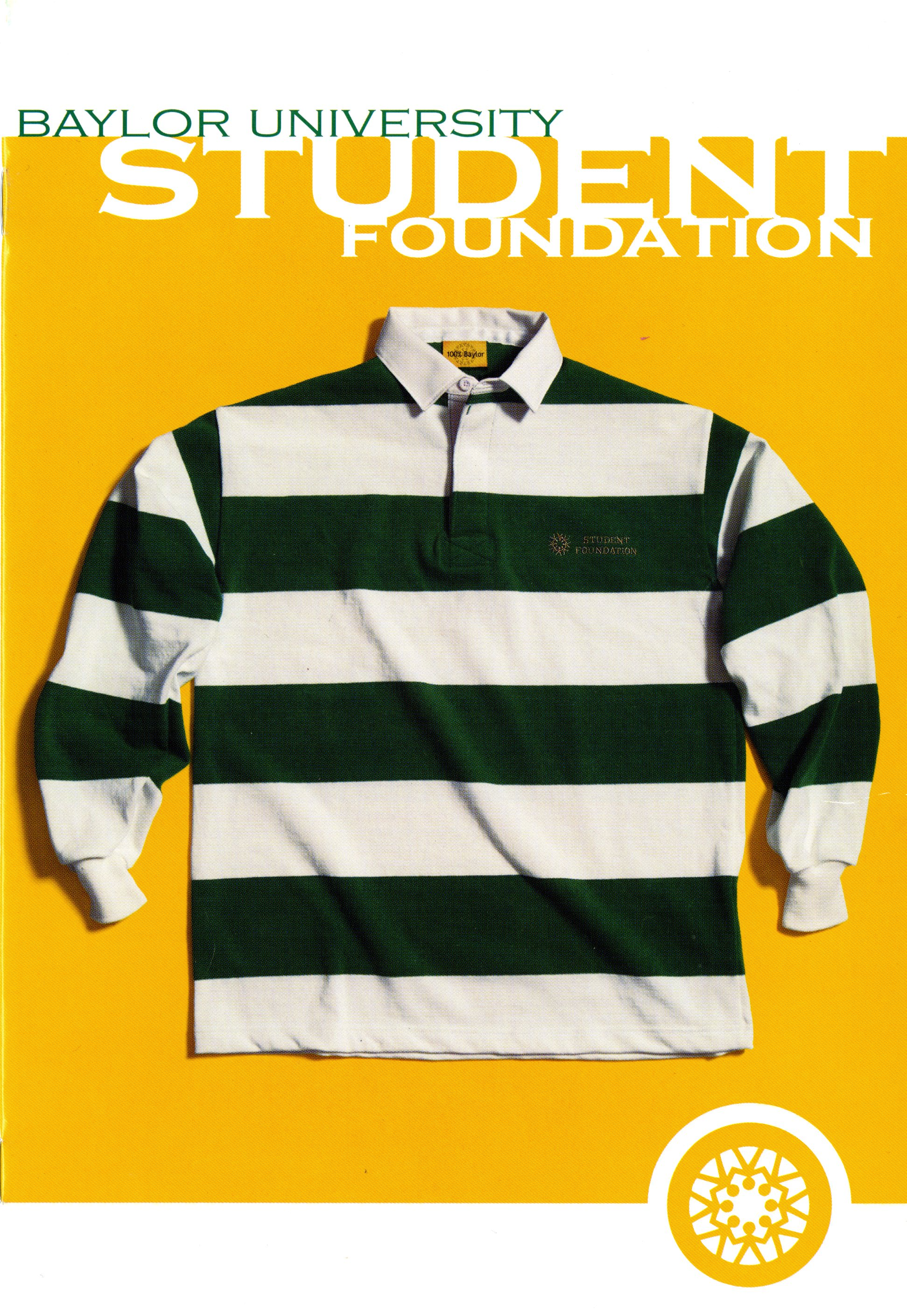 6aa8e964d Student Foundation members are perhaps best known around campus for their  green- and white-striped rugby shirts. BU395 – Box #41, Folder #21, ...