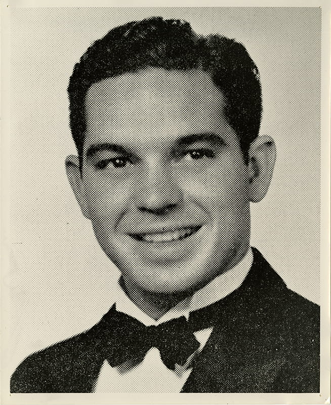 A graduation picture of Walter Gernand, taken in about 1940.