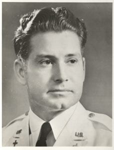 black and white image of Robert Preston Taylor in military chaplains uniform