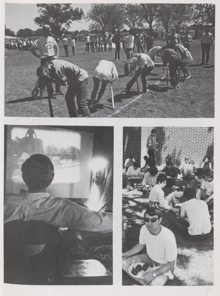 "Photos of 1971 Dia from the 1971 ""Round Up."""