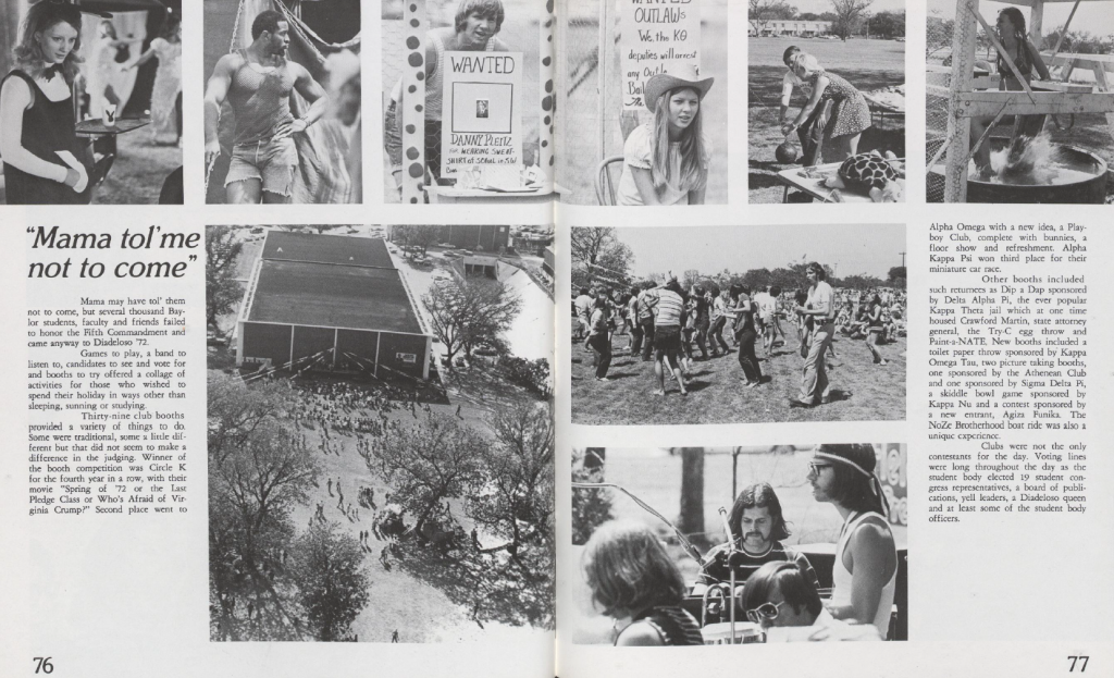 "Two-page spread on Diadeloso from the 1972 ""Round Up."""