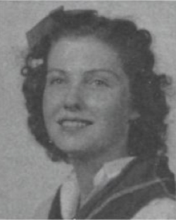 "Billie Guynes' junior year photo from the 1940 ""Round Up"""