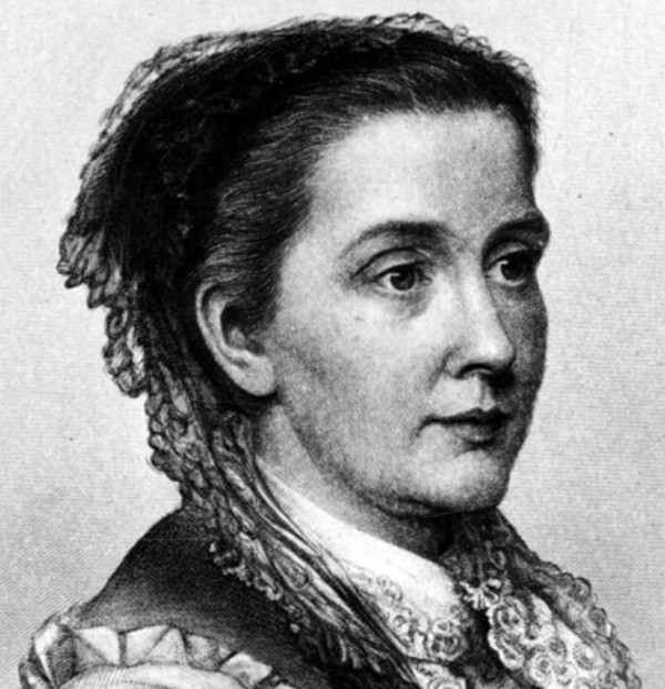 "Julia Ward Howe around the time she wrote ""Passion-Flowers."" Image via Biography.com"
