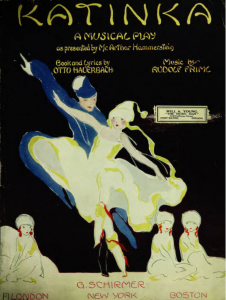 The Musical Play Katinka, 1916