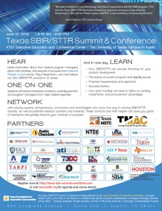 Texas SBIR/STTR Summit & Conference Flyer