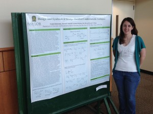 Cassie Robertson displayed a poster of her research at the 2014 URSA Scholars Week.