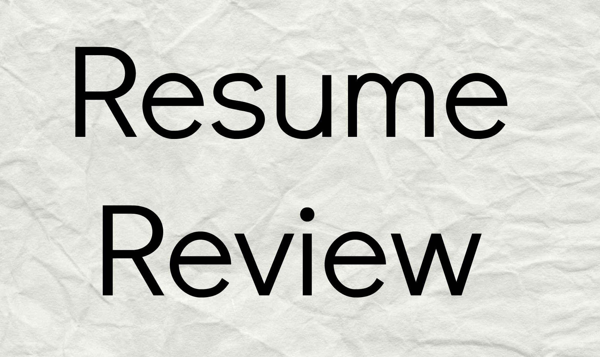 resume review