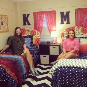 my dorm room clothed in strength and dignity
