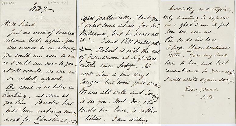 Sarrianna's Letter to Joseph Milsand