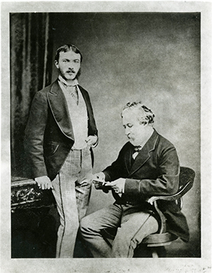 A photo of Robert and Pen Browning
