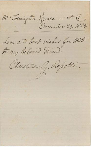 Christina-Rossetti-letter