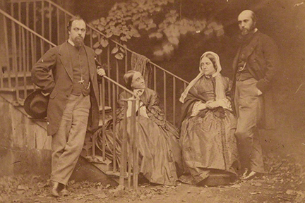 NPG P56; The Rossetti Family by Lewis Carroll (Charles Lutwidge Dodgson)