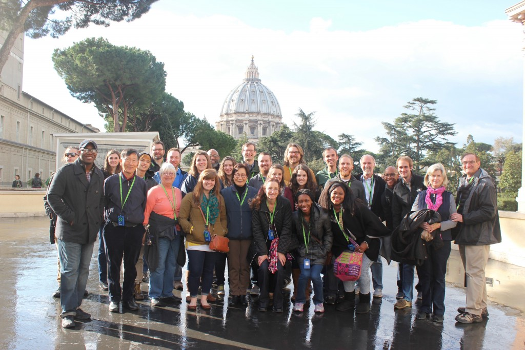 Faculty, students, and friends of the George W. Truett Theological Seminary, Vatican City, 8 March 2016