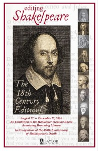 Editing Shakespeare Poster