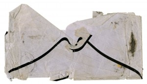 Envelope from John Ruskin to Joseph Milsand, 12 February 1865. Verso.