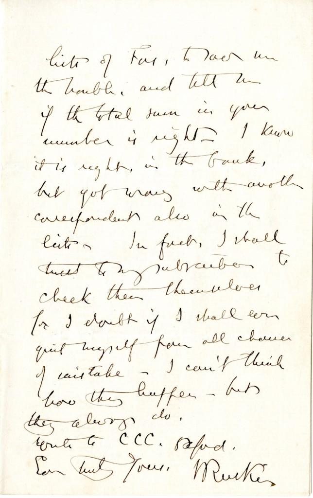 John Ruskin to John Pakenham Stilwell. 14 February [ny].