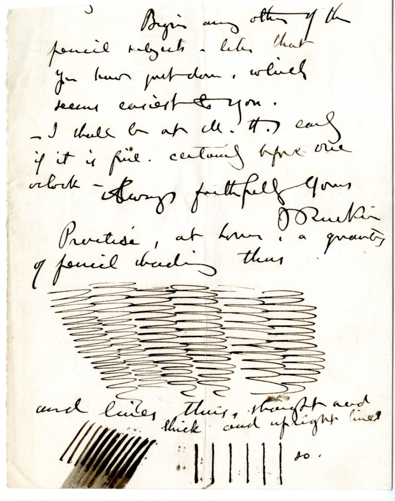 Letter from John Ruskin to [Unknown]. [Undated].