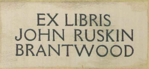 ruskins-bookplate