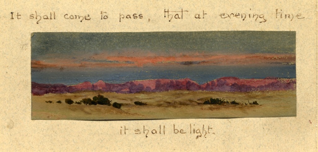 Lilias Trotter. Mountain Range and Desert. Courtesy of Ruskin Library.