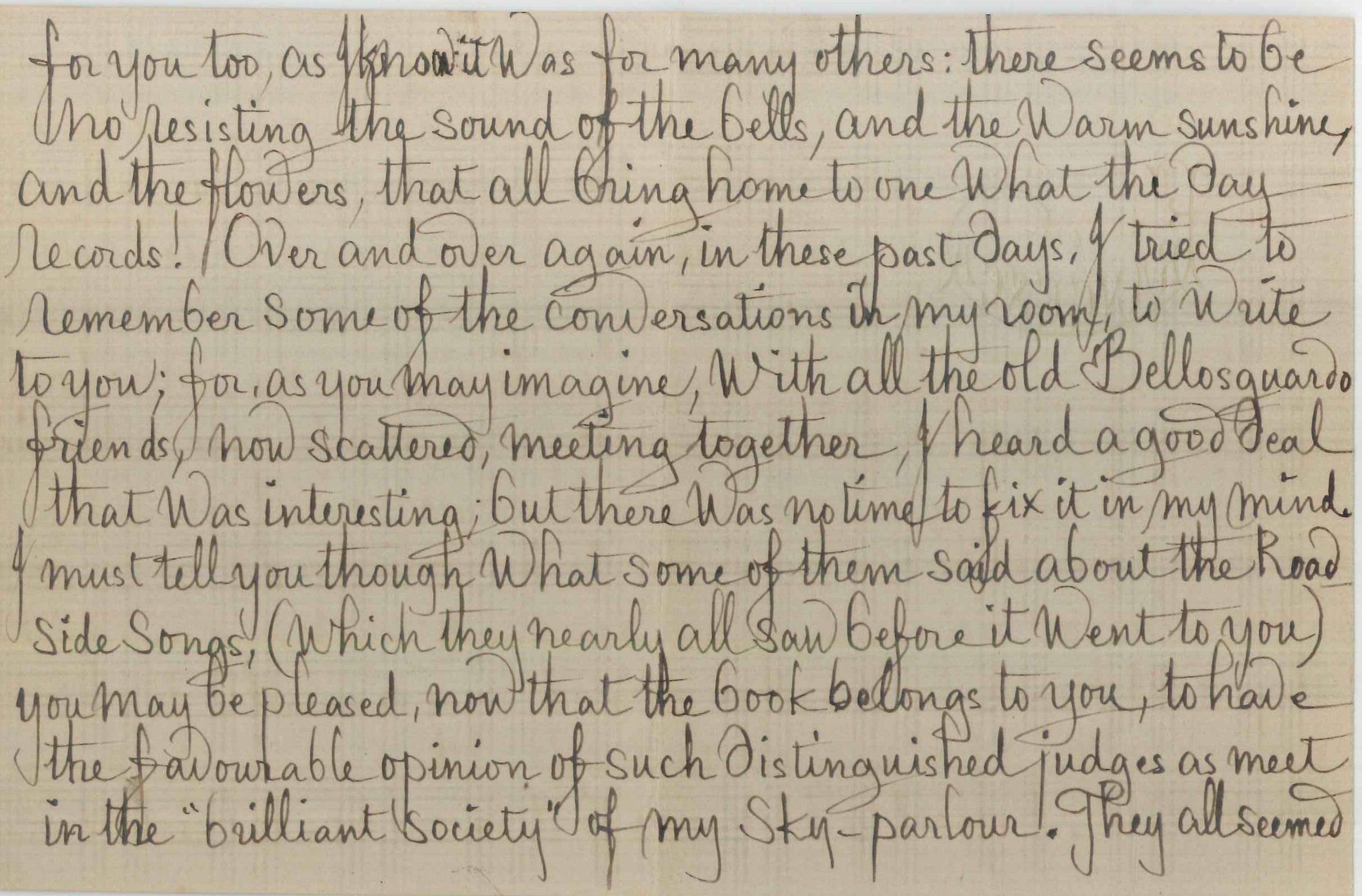 Joan severn armstrong browning library museum letter from francesca alexander to john ruskin ca april 1885 page spiritdancerdesigns Image collections