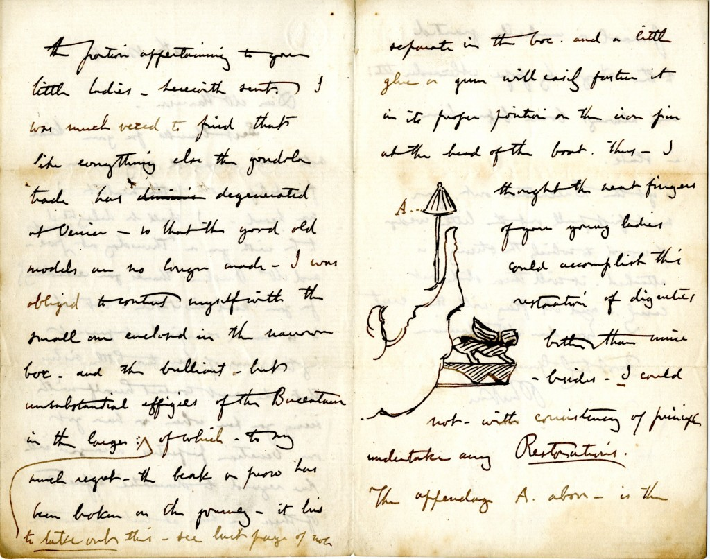Letter from John Ruskin to W. H. Harrison. 10 November [1851]. Pages 2 and 3.