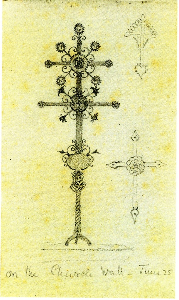 "Lilias Trotter. ""Cross"" from Lilias Trotter's Sketchbook of 1879."