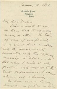 Percy Florence Shelley Letter