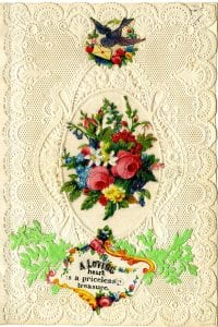 """A loving heart is a priceless treasure"" Victorian Valentine Collection, Armstrong Browning Library"