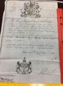 William Henry Darley's British passport, dated 1852