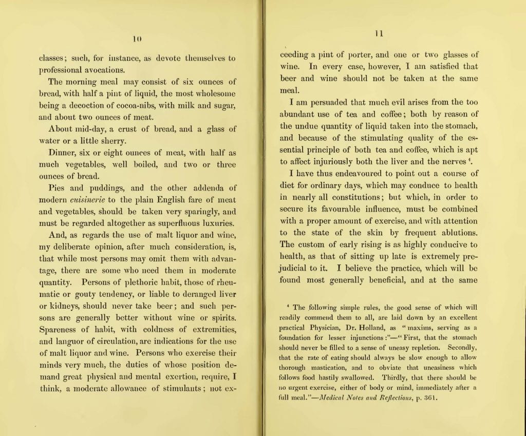 Pages 10 and 11 of Remarks details what the physician deems a regular diet so that one can ascertain whether they are eating too much or too little.