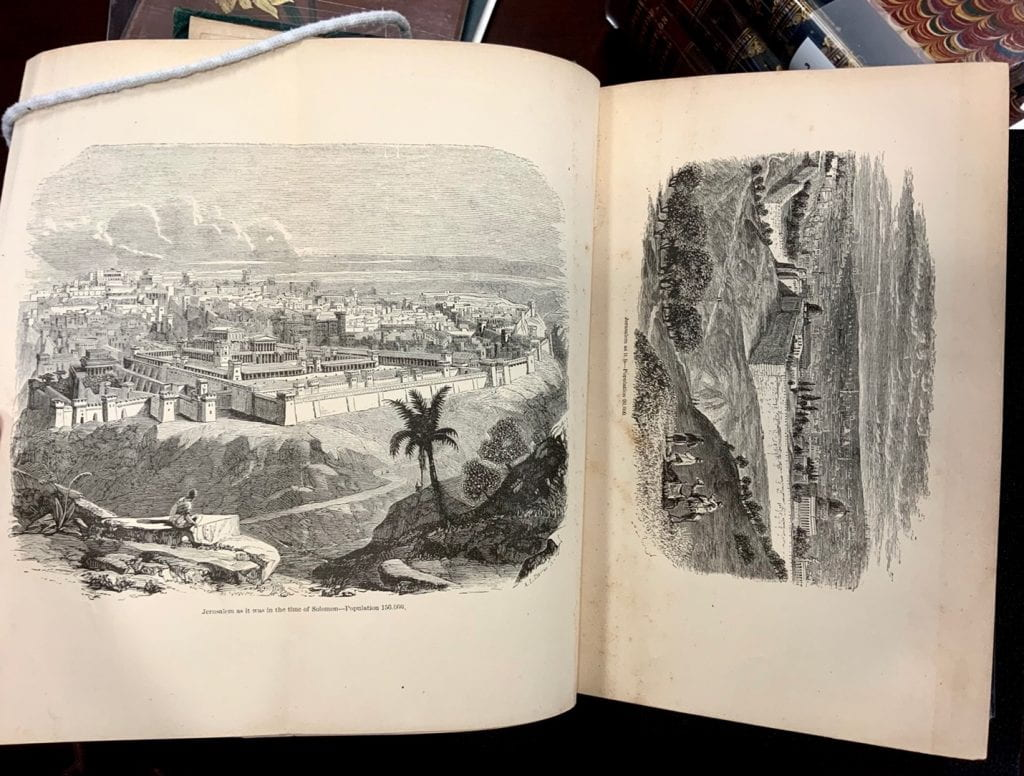 Two pictures of Jerusalem, Antiquities of the Orient Unveiled, by M. Wolcott Redding.