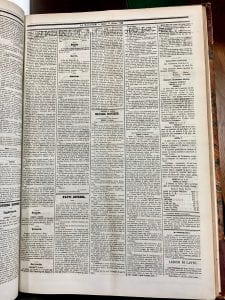 La Nazione 11 October 1862, reporting the Emancipation Proclamation in the U.S. alongside news from Paris and London about Risorgimento efforts.