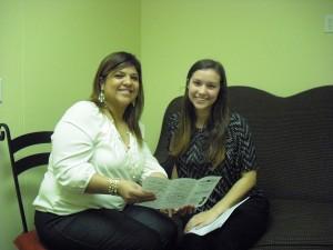 March Intern Spotlight Natalie Butler with Care Net Supervisor Janie Martinez, MSW.