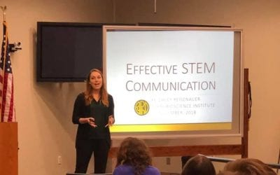 Keighley Reisenauer talked about the secrets to effective science communication at TBI
