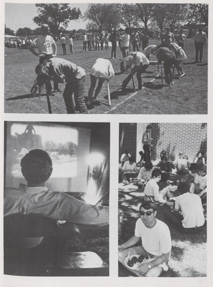 """Photos of 1971 Dia from the 1971 """"Round Up."""""""