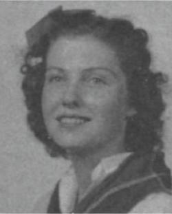 "Billie Guynes' junior year photo from the 1940 ""Round Up"""