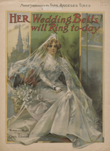 Her Wedding Bells Will Ring To-Day, 1895 (View: http://digitalcollections.baylor.edu/cdm/ref/collection/fa-spnc/id/87224)