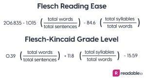 Flesch Reading Ease & Flesch-Kincaid