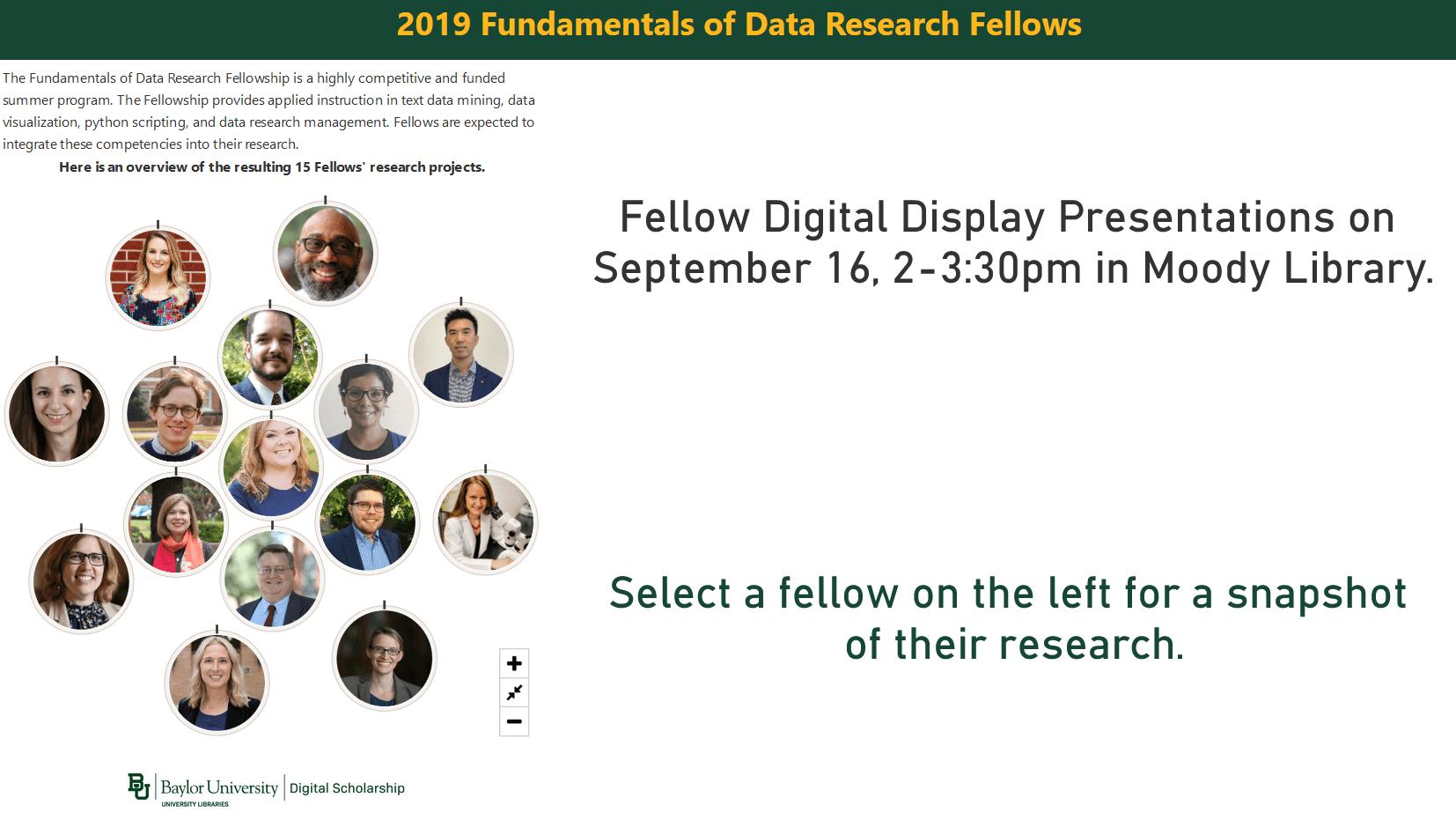 Fundamentals of Data Research Fellowship Program
