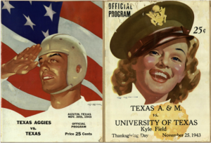 Figure 6: Football programs from the University of Texas versus Texas A&M football rivalry. (Photo from: Billie, Series 1)