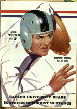 Figure 7: Football program cover from the Baylor versus SMU game in 1945. (Photo from: Billie, Series 1)